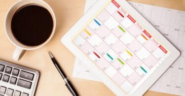 план календарь блога